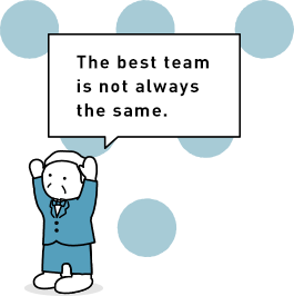 The best team is not always the same.